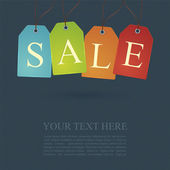 Prodej plakátu nebo znak design s Látkové Tagy