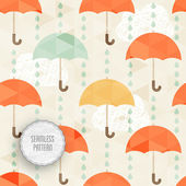 Seamless pattern with umbrella and rain