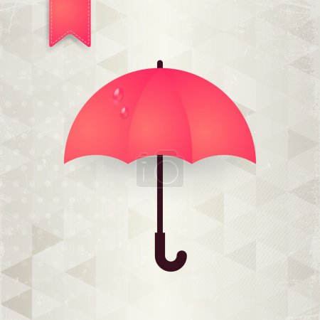 Autumn abstract background with pink umbrella.
