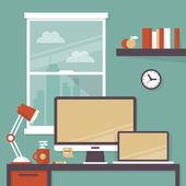 Office interior with designer desktop
