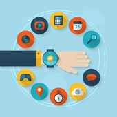 Wearable on hand device or smartwatch