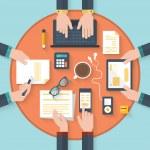 Flat design modern vector illustration concept of ...