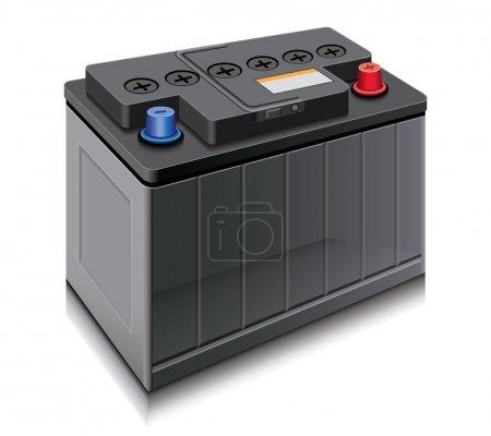 Illustration pour Batterie voiture - image libre de droit