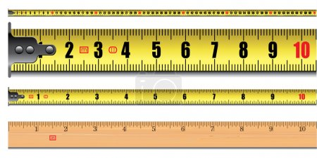 Tape measure length in centimeters