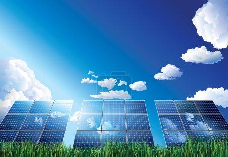 Illustration pour Panneau solaire - image libre de droit