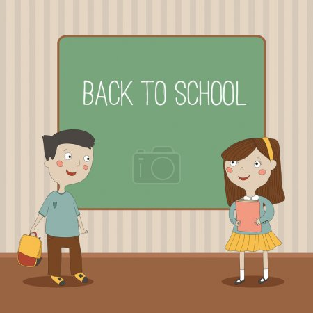 A vector illustration of a back to school background