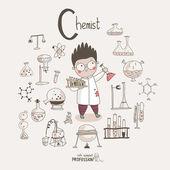 Cartoon chemist