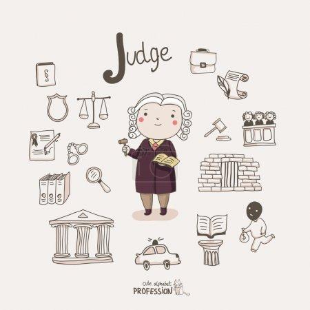 Illustration pour Jeu de juge de bande dessinée - image libre de droit