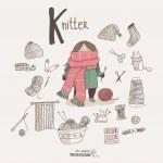 Cartoon knitter...