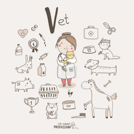 Profession alphabet  V - Vet