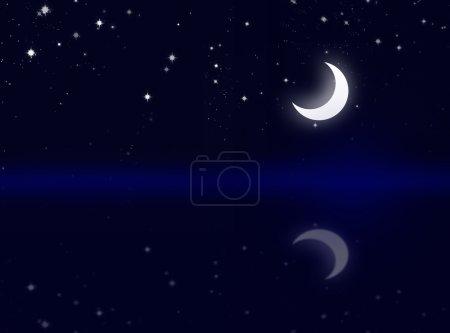 Beautiful landscape of moon sky