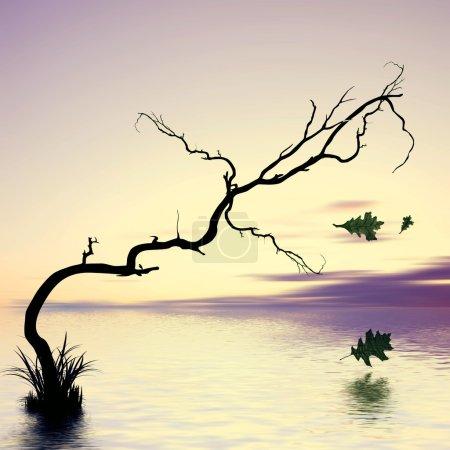 Photo for Beautiful landscape illustration - Royalty Free Image