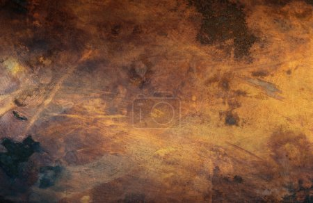 Photo for Detail view of an old scratched copper texture surface - Royalty Free Image