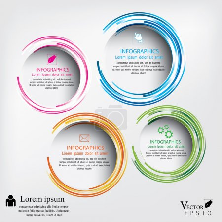 Illustration for Modern circle Vector illustration. can be used for workflow layout, diagram, number options, web design, infographics, business brochure. - Royalty Free Image