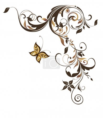 Vintage floral adornment