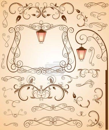 Illustration for Retro style. Set. - Royalty Free Image
