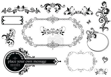 Illustration for Vintage wedding decoration - Royalty Free Image