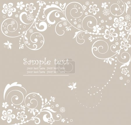 Illustration for Wedding card - Royalty Free Image