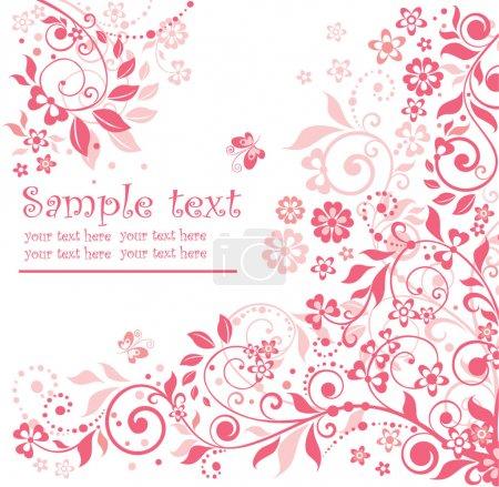 Photo pour Carte floral rose - image libre de droit