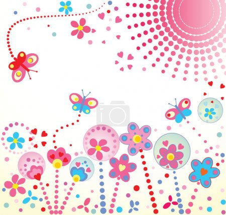 Illustration for Abstract floral background - Royalty Free Image