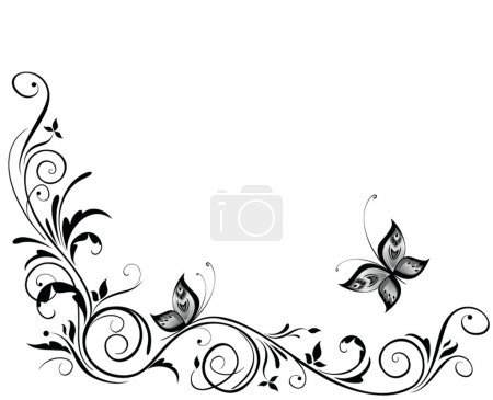Illustration for Vintage wedding design - Royalty Free Image
