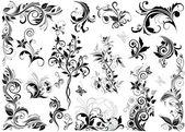 Elementi di design floreale vintage