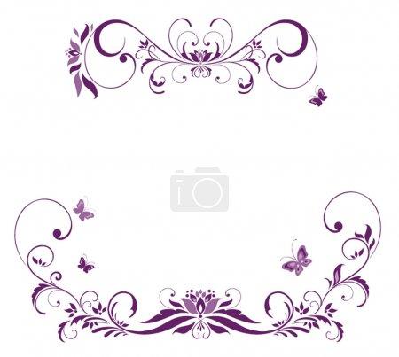 Illustration for Violet floral border - Royalty Free Image