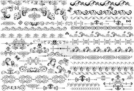 Illustration for Decorative border and design elements - Royalty Free Image