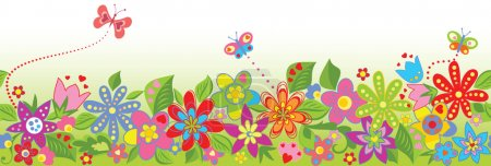 Illustration for Seamless floral border - Royalty Free Image