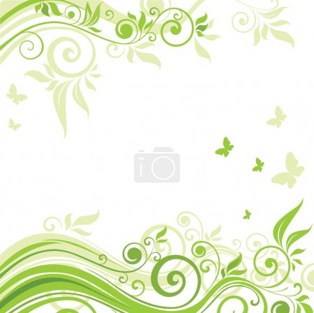Photo for Floral green background - Royalty Free Image