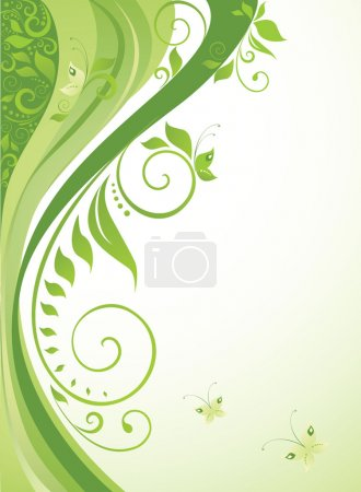 Illustration for Green background - Royalty Free Image