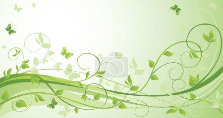Illustration for Green floral background - Royalty Free Image
