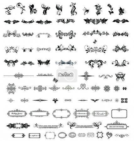 Illustration for Vintage elements for your design - Royalty Free Image