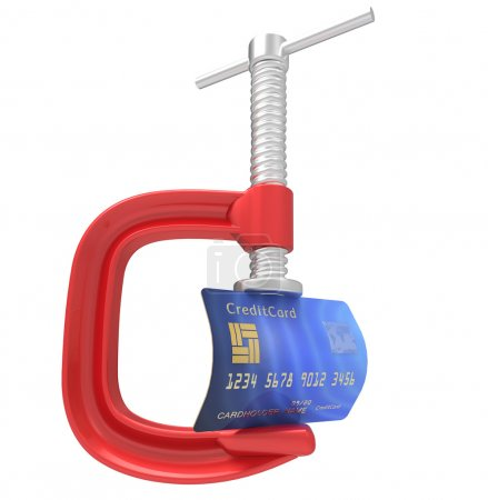 Credit Card With Clamp