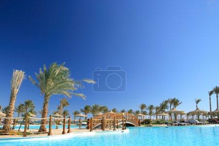 Tropical hotel. Morocco.