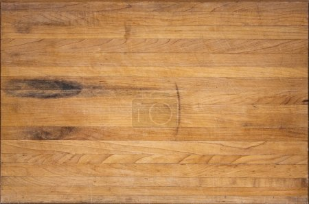Photo for A worn butcher block counter with space for text - Royalty Free Image