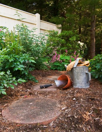 Tools Set up and Ready to Garden