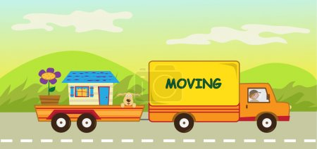 Moving Truck and Trailer