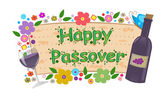 Wine and Flowers Passover Banner