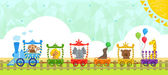 Circus Train With Background