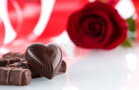 Heart,chocolates and flower