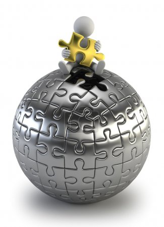 3d small - puzzle sphere
