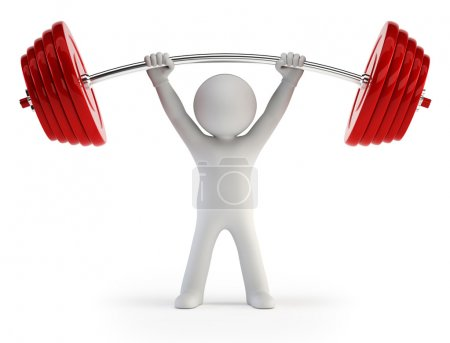 3d small - Athlete lifting weights