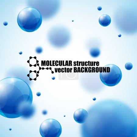 beautiful molecule background