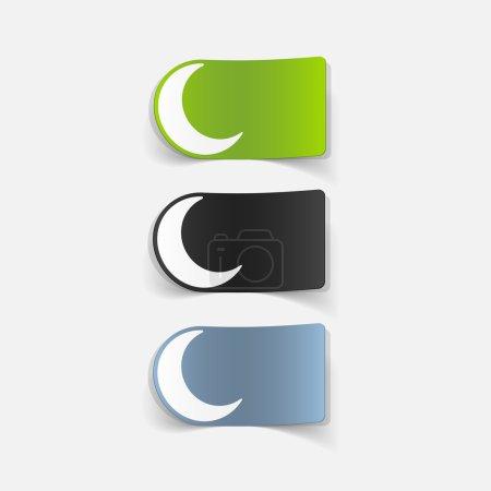 realistic design element: moon