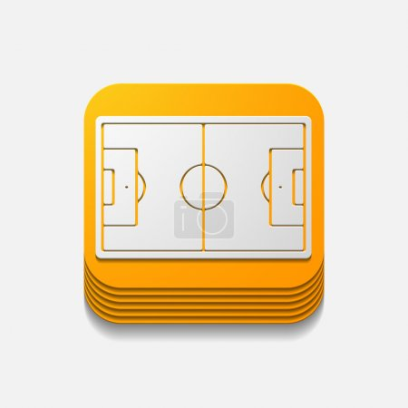 square button: playing field