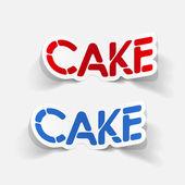 Realistický grafický prvek: dort