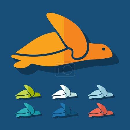 Flat design: turtle