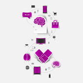 Set of sticker design. Technology business concept