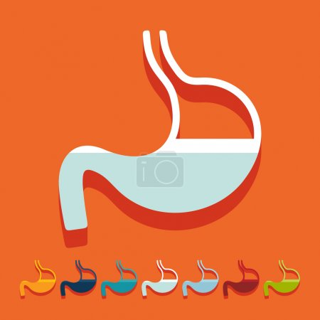 Flat design: stomach